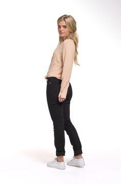 Jeans Skinny Lilly Stone Black van Mud Jeans