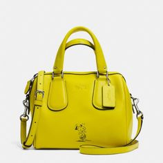The Coach X Peanuts Mini Surrey Satchel In Leather from Coach My favorite!