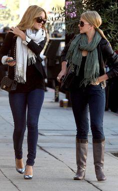Lauren and Lo winter scarves #fallfashion