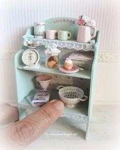 2018.04 Miniature Cabinet Shabby ♡ ♡ By Mi Mundo en Rosa