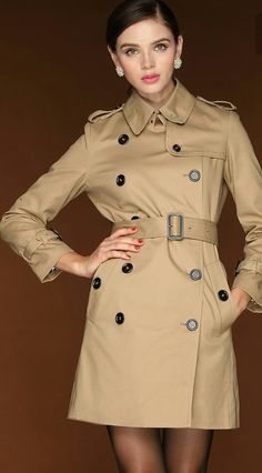 Classic Trench Coat, Trench Coats, Rain Coats, Raincoats For Women, Jackets For Women, Clothes For Women, Fashion Outfits, Women's Fashion, Fast Fashion