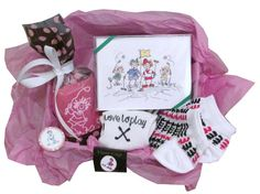 Lori's Golf Shoppe has everything you need to golf in comfort and style! Buy this Ladies Golf Gift Combos - Note Cards, Socks, Poker Chip & Ball Marker online today!