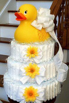 Rubber Duck Diaper Cake Boutique