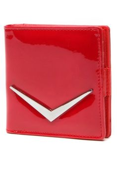 Red Shiny Lux Mini Wallet by Lux de Ville   Bags   Red Shiny