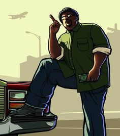 View an image titled 'Big Smoke Art' in our Grand Theft Auto: San Andreas art gallery featuring official character designs, concept art, and promo pictures. Gta San Andreas Wallpapers, Big Smoke Memes, Rockstar Games Gta, Gta Pc, San Andreas Gta, Gta Funny, Grand Theft Auto Series, Smoke Wallpaper, City Wallpaper