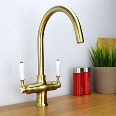 ENKI Twin Lever Traditional Bronze Monobloc Kitchen Sink Mixer Tap COLOGNE in Home, Furniture & DIY, Kitchen Plumbing & Fittings, Kitchen Taps | eBay
