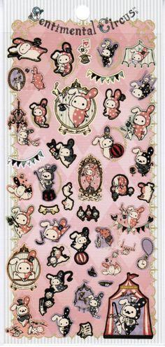 San-X Sentimental Circus Sticker Sheet Kawaii Stickers, Cute Stickers, Sentimental Circus, Kawaii Gifts, Molang, Bullet Journal, Circus Theme, Cute Japanese, Hello Kitty