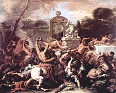 Sebastiano Ricci (1659-1734)...'battle of Lapiths and Centaurs at the marriage of Pirithous, king of Lapiths'