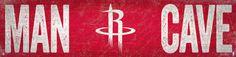"Houston Rockets Man Cave 6""x24"" Sign"