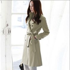Women's Fantastic Long Belted Trench Coat on BuyTrends.com, only price $73.20