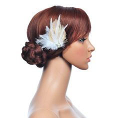 $10 Topwedding Light Golden and White Peacock Feather Hair Flower with Pearl by Topwedding, http://www.amazon.com/dp/B00EE4Z32I/ref=cm_sw_r_pi_dp_A.fGsb0YEVX9J