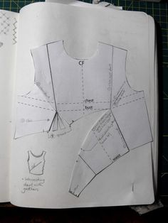 House of Jo: Pattern Exploration: Intersecting Dart with GathersPattern Exploration: hands on portfolio construction steps?This technique is from Helen Joseph-Armstrong& most excellent book Patternmaking for Fashion Design.Posts about pattern cutting Dress Sewing Patterns, Sewing Patterns Free, Clothing Patterns, Sewing Hacks, Sewing Tutorials, Sewing Projects, Techniques Couture, Sewing Techniques, Pattern Cutting
