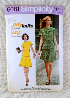 Simplicity 6081 vintage sewing pattern by momandpopcultureshop