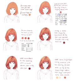 Hair coloring tutorial by Hiba-tan