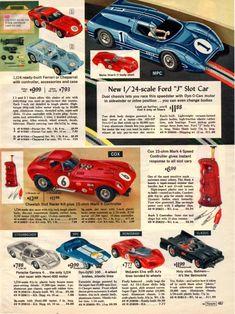 1966 sears christmas catalog page 467 slot car sets, ho slot cars, slot car Race Car Sets, Slot Car Sets, Ho Slot Cars, Slot Car Racing, Slot Car Tracks, Road Racing, Remote Control Cars, Radio Control, Vintage Models
