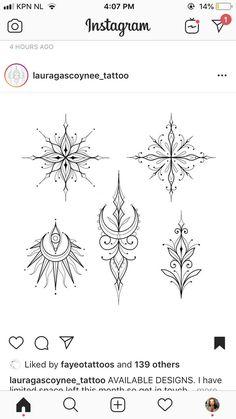 Mandala Tattoo Design, Henna Tattoo Designs, Small Tattoo Designs, Small Tattoos, Etnic Pattern, Birthday Tattoo, Handpoke Tattoo, Ornament Drawing, Tattoo Addiction