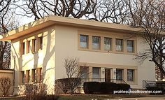 A 1910 Overland, MO home built to plans by Frank Lloyd Wright for a fireproof home. See more ARCHITECTURAL HIGHLIGHTS: 175 Years of St. Louis Historic Homes.