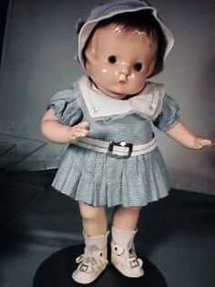 """14"""" Vintage Patsy Doll in Great Original Outfit - 1930s"""