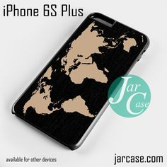 Black Wood Worlds Map Phone case for iPhone 6S Plus and other iPhone devices