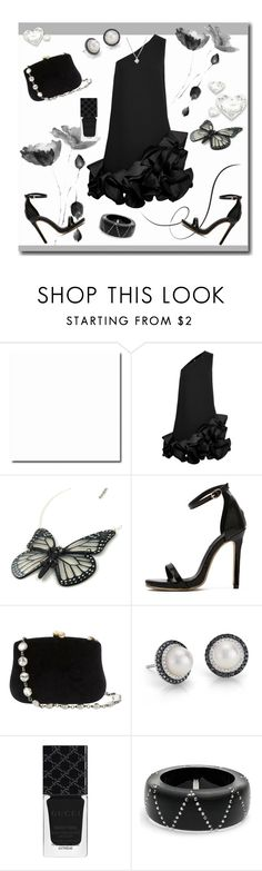 """I love my black dress"" by freshstart60 ❤ liked on Polyvore featuring Victoria, Victoria Beckham, WithChic, Serpui, Blue Nile, Gucci, Alexis Bittar, Forzieri and thefashioncloset"