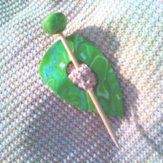Polymer clay shawl pin