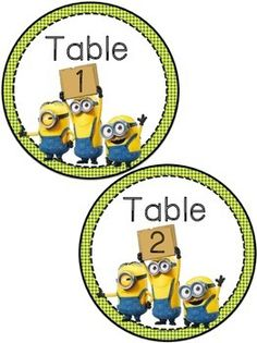 It's difficult to be sad around Minions.Included in this packet are table numbers 1-36 and Minion table signs.The numbers can be used to label mailboxes or other items and the signs can be used to label table groups.