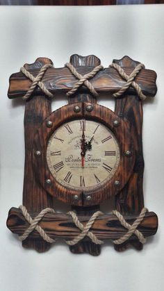 23 Clever DIY Christmas Decoration Ideas By Crafty Panda Clock Art, Diy Clock, Bois Diy, Wall Clock Design, Wood Clocks, Into The Woods, Mason Jar Diy, Wood Pallets, Wood Projects