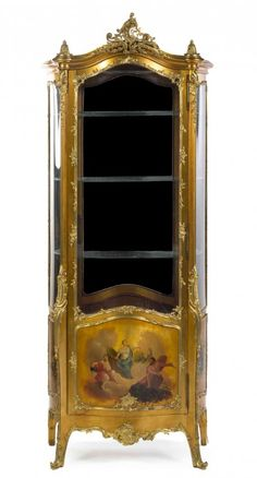 A Louis XV Style Gilt Bronze Mounted Vernis Martin : Lot 322
