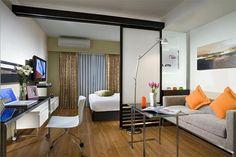 Гостиная и спальня в одной комнате 18 кв м – зонирование, дизайн, фото с кроватью