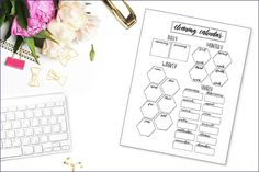 Cleaning stresses me the hell out. It feels like there is a never-ending list of chores to do! That's why I got proactive and created this cleaning calendar printable for my bullet journal, and I'm sharing it with you for free! I want to make sure to stay on top of my cleaning and chores without a ton of fuss. For me, there is nothing that is more helpful than simply writing stuff down. Grab yours now and get your chores under control. #bulletjournalprintable #cleaningcalendar #printables Bullet Journal Health, Daily Bullet Journal, Bullet Journal Printables, Bullet Journal Books, Book Journal, Journal Ideas, Cleaning Calendar, Chore List, Love Yourself First