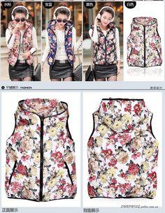 Жилет-куртка женская цветочная