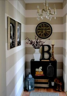 Striped Entryway