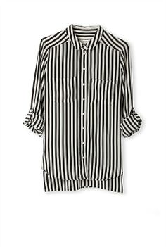 Stripe Silk Shirt by Country Road Primark, Looks Great, Button Down Shirt, Shirt Dress, Silk, My Style, Mens Tops, How To Wear, Shirts