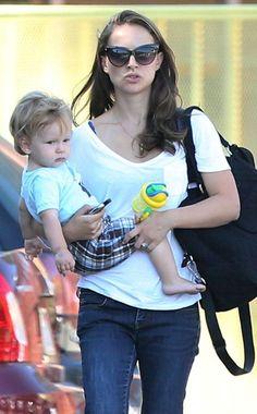 Natalie Portman and baby Aleph
