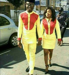 Couple wear/African style/Trendy african design by PageGermanyShop Couples African Outfits, African Dresses Men, African Clothing For Men, African Shirts, Couple Outfits, African Attire, African Wear, African Women, African Style