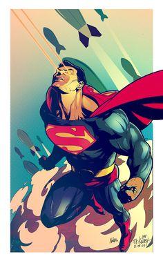 A pinup of Superman. Pencils by: WSFX [link] Superman vintage Mundo Superman, Superman Man Of Steel, Superman Wonder Woman, Batman And Superman, Superman Poster, Superman Stuff, Comic Books Art, Comic Art, Superman Wallpaper
