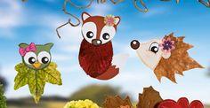 Blättertiere basteln im Herbst: Wir zeigen Ihnen, wie Sie und Ihre Kinder aus bunten Blättern süße Tiere basteln können. Plus: Vorlage zum Download. © OZ-Verlags-GmbH 2015