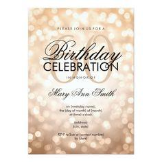 131 best glitter birthday party invitations images on pinterest elegant 60th birthday party copper glitter lights invitation filmwisefo