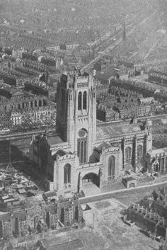 Liverpool History, Liverpool Home, Liverpool Street, Liverpool Cathedral, Uk Photos, Southport, Aerial View, Countryside, 1940s