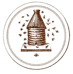 *The Graphics Fairy LLC*: Vintage Graphic - French Beehive