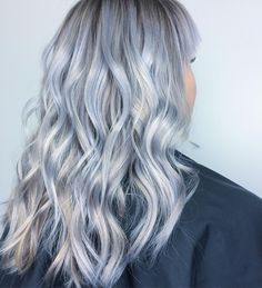 30 Of the Hottest Lavender Hair Trends — Always Stay Cool and Stylish! Purple Ombre, White Ombre Hair, Grey Hair Wig, Silver Blue Hair, Blue Grey Hair, Light Blue Hair, Silver Ombre, Dark Brunette Hair, Blonde And Blue Hair