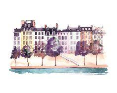 Parisian Life Wall Art Prints by Kelsey McNatt | Minted