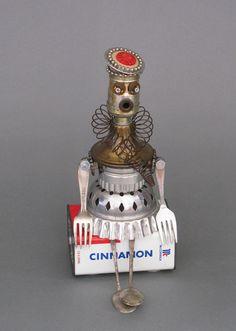 Found Object ROBOT SCULPTURE - Fashionista Flo  https://www.etsy.com/listing/112357654/found-object-robot-sculpture-fashionista?ref=shop_home_active  $115