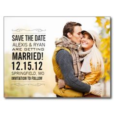 Save The Date Postcard - adorable fallish look