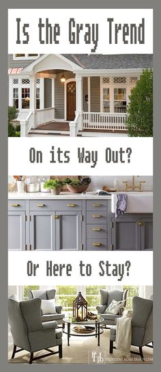 Is The Gray Color Trend in Home Decorating Here Stay? Great color and style inspiration pictures from Houzz and Southern Living at the link. H Design, House Design, Design Ideas, Br House, Interior Decorating, Interior Design, Home Trends, Home Staging, House Colors