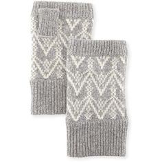 Sofia Cashmere Fair Isle Cashmere Fingerless Gloves ($69) ❤ liked on Polyvore