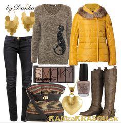 Žltá zimná bunda s maňkou - KAMzaKRASOU.sk #kamzakrasou #sexi #love #jeans #clothes #coat #shoes #fashion #style #outfit #heels #bags #treasure #blouses #dress