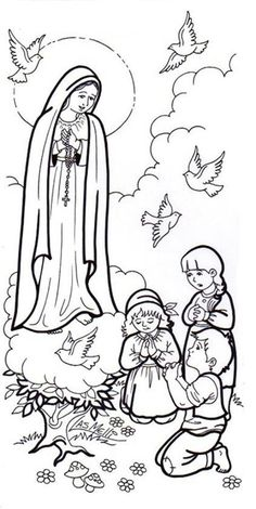 Our Lady Of Fatima Coloring Page Luxury Lady Fatima Coloring Page Sketch Coloring Page Jesus Coloring Pages, Farm Animal Coloring Pages, Printable Adult Coloring Pages, Coloring Pages To Print, Coloring Books, Colouring, Religious Images, Religious Art, Jesus Drawings