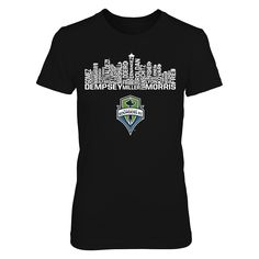 Skyline - Seattle Sounders FC Cfkm4g T-SHirt, Seattle Sounders FC Official Apparel - this licensed gear is the perfect clothing for fans. Makes a fun gift!  AVAILABLE PRODUCTS District Women's Premium T-Shirt - $29.95   District Women District Men Next Level Women Gildan Unisex Pullover Hoodie Gildan Long-Sleeve T-Shirt Gildan Fleece Crew Gildan Youth T-Shirt View sizing / material info This is a fitted female style. For a true fit order size up.