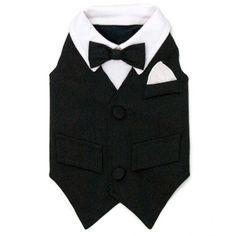 Small William Dog Tuxedo Vest